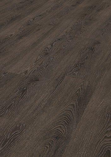Tepcor Klick Vinylboden Premium Vinylbodenbelag mit Klicksystem Pflegeleichte und wasserfeste Vinyl Bodenbeläge in vielen verschiedenen Farben (Argento metall)