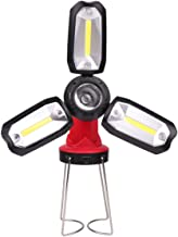 Varadyle Powrful LED Flashlight Camping Hiking Emergency Multifunction Rechargeable Deformable Lighting Red