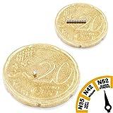 Brudazon | 100 Mini Scheiben-Magnete 1x1mm | N52 Neodym-Magnete ultrastark | Power-Magnet für Modellbau, Eisenbahn, Schmuck, Mikroskop | Magnetscheibe extra stark