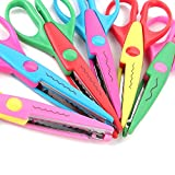 Decorative Paper Edge Scissor Set – 6'' Colorful Paper Edger Scissors Great for Kids, Teachers, Crafts, Scrapbooking, DIY Projects and Kids Crafts, Set of 6 … (6 inchs)