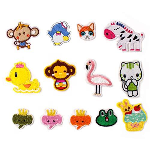 Patch Sticker,Parche termoadhesivo,Aplique de bordado adecuado para sombreros, chaquetas, abrigos, camisetas, , gato, mono 13