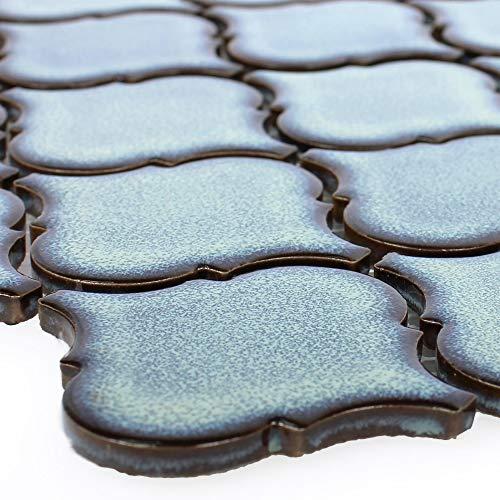 Keramik Mosaikfliesen Trier Florentiner Blau | Küchenspiegel Wand WC Badezimmer Sanitär Retro