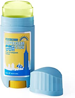 May NewYork Super Clear Pure Sun Stick SPF50+ PA++++ 0.60oz - Convenient Stick Type Sunscreen Defense Against UV Rays and Sunburn - Water and Sweat Proof/Easy Glide on Skin 17g