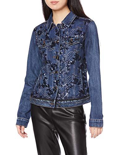Desigual Mex Jacken Damen Blau - DE 36 (EU 38) - Jeansjacken Outerwear