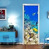 thetobea 3D Tür Poster-Unterwasser Welt Kreativität Tür