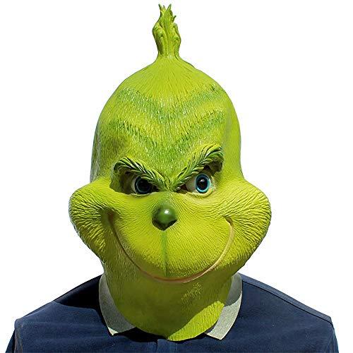 Qiujiam Adulto Niño Grinch Máscara Disfraz de Cosplay Jack ...