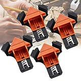 SNAGAROG 4 Stücke Holzklemmen Winkel 90 Grad Rechtwinkel Winkelzwinge Multifunktions Winkelklemme DIY Handwerkzeuge Eckklemme, für Holzbearbeitung, Bohren und Möbelherstellung
