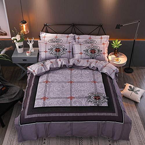 TAYIBO Bettbezug Kopfkissenbezug,Vierteiliges Set, Baumwolltafel Blume fürs Bett, E_1.5 * 2.0