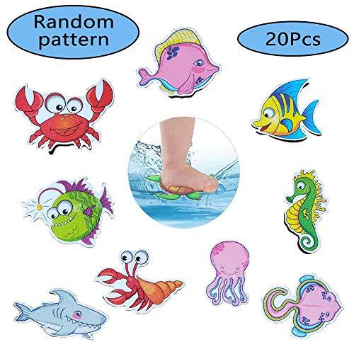 Rutschfeste Badewannen Aufkleber, 20-teilige Rutschfeste Cartoon-Aufkleber, Rutschfeste Kinder Badewannenaufkleber, Rutschfeste Gummiaufkleber,für Badewanne, Badezimmer, Pool, Treppe und Kinderzimmer