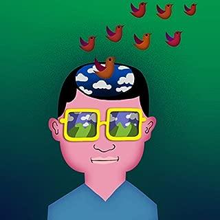 """"""" Day Dreaming Imagine Boy """"アートワークCartoon Guy w / Birds–ビニールステッカー"""