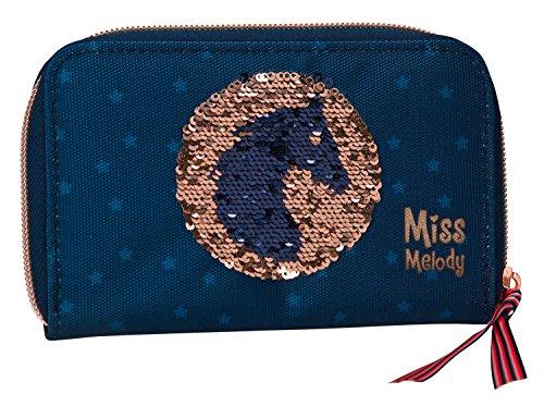 Depesche 6045 - Portemonnaie, Miss Melody, Pailletten blau