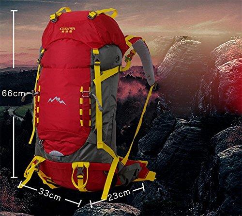 Hommes et femmes voyage sac à dos outdoor sac 50 + 5 L sac d'alpinisme randonnée sac à dos outdoor professionnel Pack , red
