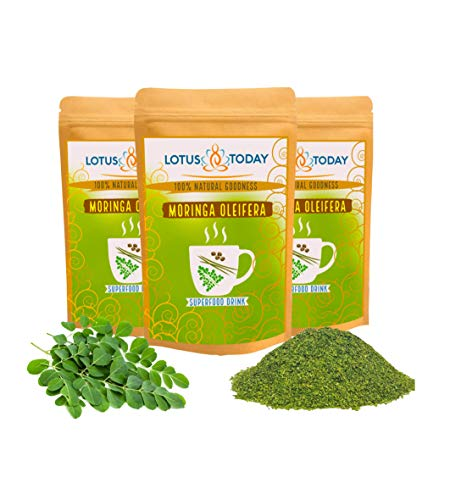 Moringa Tea Herbal Loose Leaf Tea Caffeine Free | Immune System Support | Green Superfood 250g