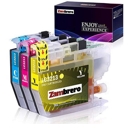 Zambrero LC3213XL Colore Cartucce Sostituzione per Brother LC3213 LC3211 Cartucce d'inchiostro per Brother MFC-J491DW MFC-J890DW DCP-J572DW MFC-J895DW MFC-J497DW DCP-J774DW DCP-J772DW (C/M/Y)