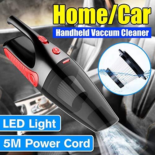NO BRAND 5000Pa Inalámbrico Inicio/Car Vacuum Cleaner 12V 120W de Mano automático húmedo seco de Doble Uso Aspiradora portátil Filtro HEPA con luz LED
