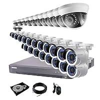 防犯カメラ 32台 DVR32ch HDD 4TB付き 防犯カメラセット 243万画素 監視カメラ HD-TVI 動体検知 赤外線 防水 スマホ 遠隔監視 屋内 用 13台 屋外 用 19台