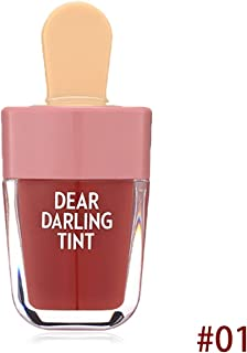 Henanxi Waterproof Liquid Lipstick Ice-Cream Shaped Dear Darling Lip Tints Makeup Moisturizing Lasting Natural Charming Lip Stick
