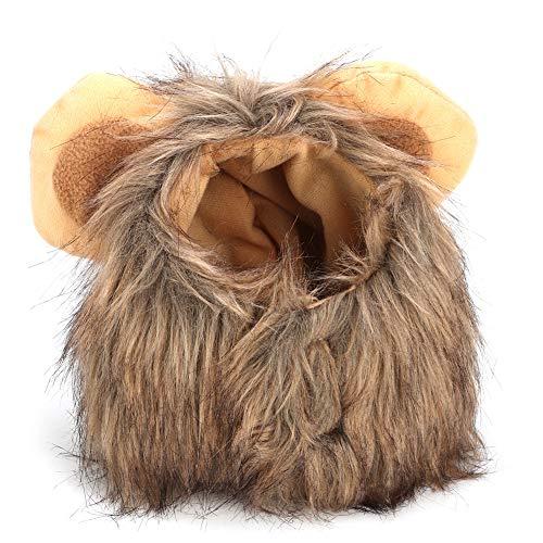 YOUTHINK Creativo Lindo Mascota Gato Perro León Peluca Sombrero Disfraz Divertido Vestir Mascota León Peluca Vestir