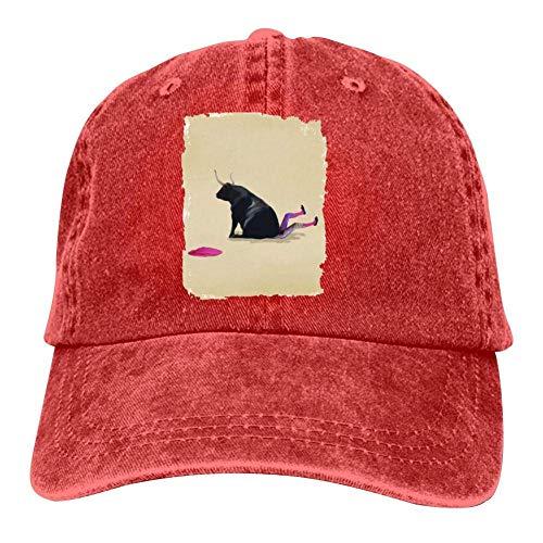 xinfub Bullfighter Beaten Bulls Camping Unisex Adult Adjustable Trucker Dad Hats Adult Cowboy Cap Casquette Baseball Cap Net red 4990