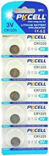 5 Pack CR1225 3V Lithium Battery for Thermometers and Watches