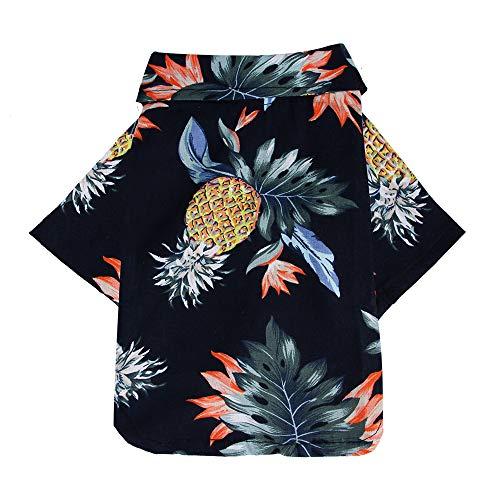 RONGZOM - Camisa Hawaiana de Perro de Verano para la Playa de Mascotas Familiar Ropa de Animal Animal Floral Chaqueta de Perro para el pequeño Animal de compañía