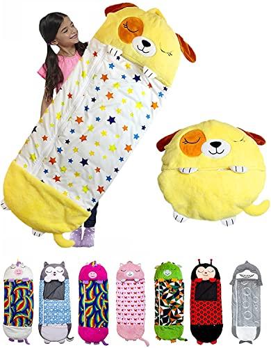Homeatk Schlafsack Kissen für Kinder, Kuscheliger Warme Spielen - Kuscheln - Schlafen Kissenschlafsack Cartoon Tiere Nickerchen Schlafsack