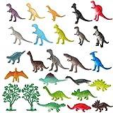 Fontien 26tlg Mini Dinosaurierfiguren mit Bäumen Dinosaurier Spielzeug Set Figuren (MEHRWEG)
