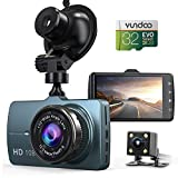 Dash Cam Front and Rear Car Camera, 1080P 3.2' Dashboard Camera with 32GB SD Card, 170°Wide Angle, Night Vision Dashcam for Cars, Driving Recorder with G-Sensor, Loop Recording, Parking Monitor…