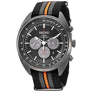 Fashion Shopping Seiko Men's RECRAFT Series Stainless Steel Japanese-Quartz Watch with Nylon Strap, Black, 21 (Model: SSC669)