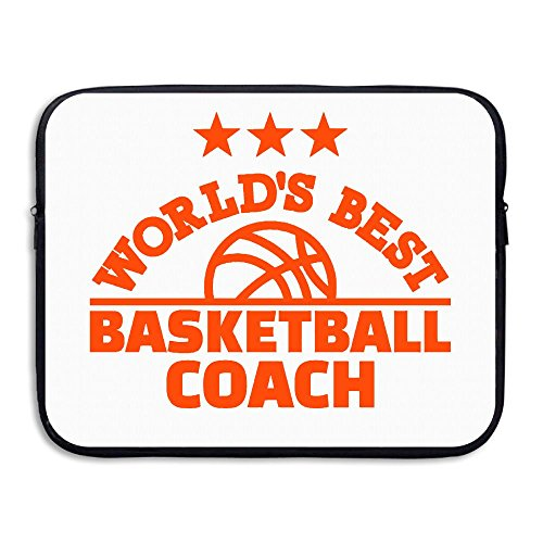 Business Briefcase Sleeve World's Best Basketball Coach Laptop Sleeve Case Cover Handbag for 13 Inch MacBook Pro/MacBook Air/Asus/Dell/Lenovo/Hp/Samsung/Sony/Women & Men