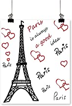 Hanging Painting Eiffel Tower Paris is Always A Good Idea Tourism Locations Sweet Love Rich in Color,32