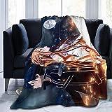 Sword Art Online-Kirito and Asuna SAO Throw Blankets Cozy Lightweight Decorative Blanket for Women Men and Kids Halloween Festivals