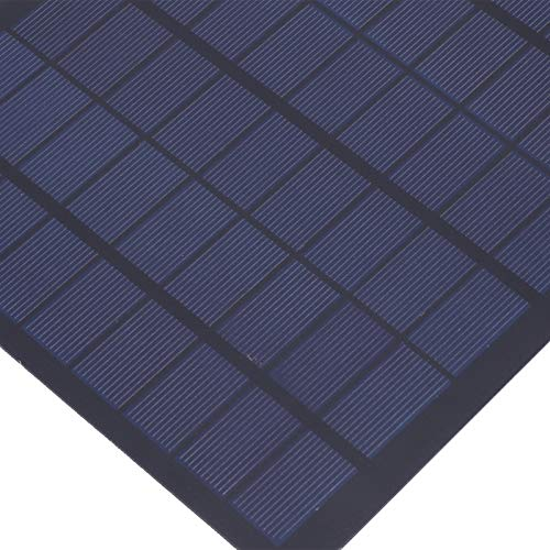 Batería de panel solar, mini cargador de panel solar de epoxi, cargadores solares de teléfono móvil para exteriores de 18 V y 9 W, celda solar portátil de polisilicio con alta tasa de