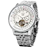 Forsining Men's Self winding Automatic Tourbillon Calendar Watch with Link Bracelet JAG034M4S1