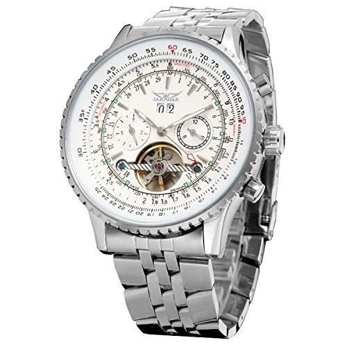 Forsining Men's Automatic Tourbillon Complete Calendar Wrist Watch JAG034M4S1