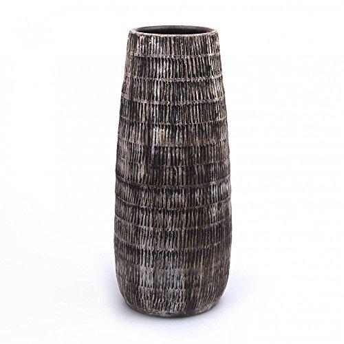 Hendriks Deko Bodenvase Notch H. 50cm D. 20cm braun Keramik