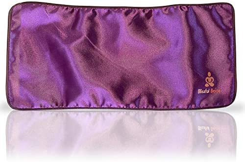 Blissful Being Satin Eye Pillow Cover Washable Removable Case for Eye Pillow Purple Cover only product image