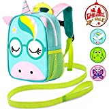 Backpack Leash, 9.5' Toddler Unicorn Bag - Harness Safety with Removable Tether
