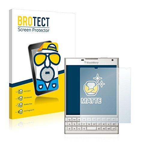 BROTECT 2X Entspiegelungs-Schutzfolie kompatibel mit BlackBerry Passport Bildschirmschutz-Folie Matt, Anti-Reflex, Anti-Fingerprint