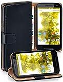 MoEx Funda Cartera [protección 360°] Compatible con Motorola Moto G3 | Cierre magnético, Noir