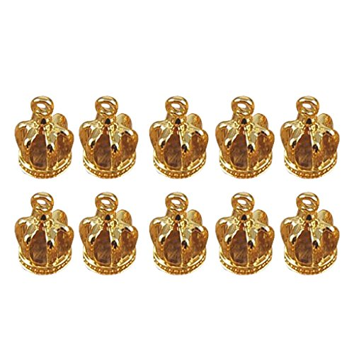 Colcolo Set of 10 Gold Coins Charms Crowns Pendants DIY Crafts