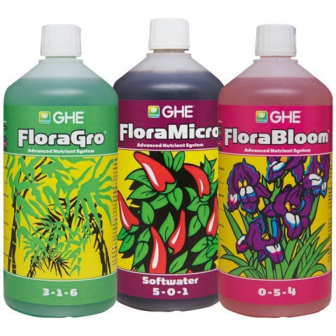 GHE SW Flora Gro, Bloom & Micro 1L