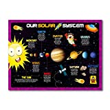 UNCLEWU Solar System Poster for Kids Wall -Learning for Classroom Home -...