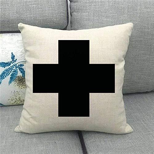 LPLH Symmetrical Geometric Checkerboard Lattice Plus Linen Pillowcase Pillow Pillowcase 1504-11_45*45cm