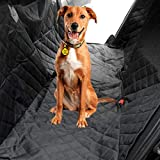 Dog Car Seat Cover Non-Slip Waterproof with Side Flap, Angooni Heavy Duty Pet