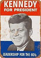 大統領のためのケネディティンサイン壁鉄絵レトロプラークヴィンテージメタルシート装飾ポスター面白いポスターバーガレージカフェホーム用工芸品