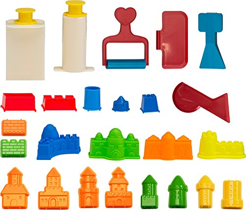 CoolSand Building Sand Molds & Tools Kit - Works with All Other Play Sand Brands - 27Piece Includes: Castle, Bricks & Walls Molds, & Tools - Sand Not Included