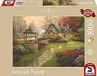 1000ピース ジグソーパズル Schmidt-Spiele コテージ 庭 Kinkade: Make a Wish Cottage 49.3×69.3cm 58463