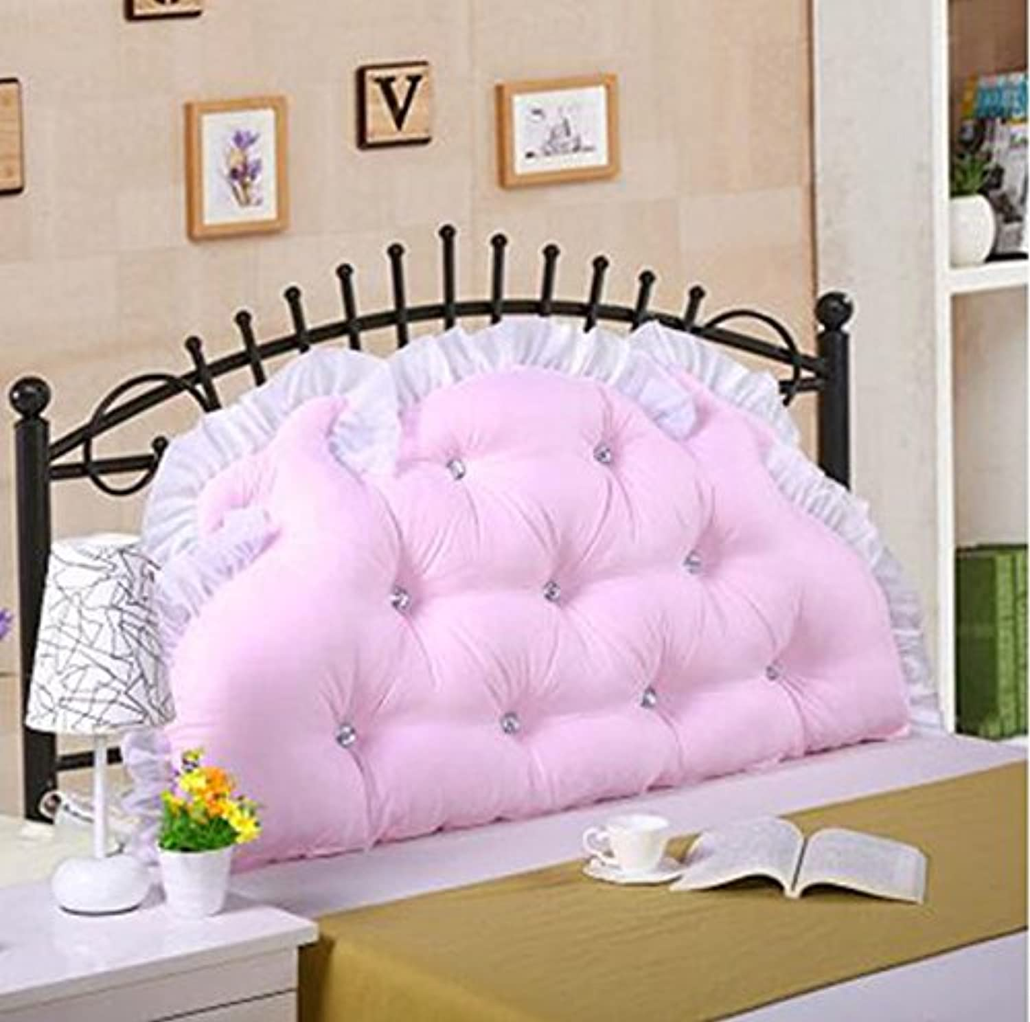 RFJJAL Large Cushion Soft Pack Cotton Princess Bed Large Backrest Double Long Pillow with Core Removable and Washable (color   A2, Size   2m)