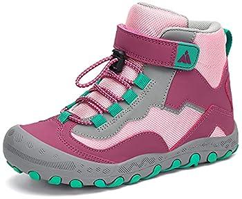Mishansha Enfant Chaussures de Randonnée Antidérapant Légères Chaussures de Trekking Souples Confortable Chaussure de Marche pour Garçon et Fille, Rose Fard À Joues 28 EU